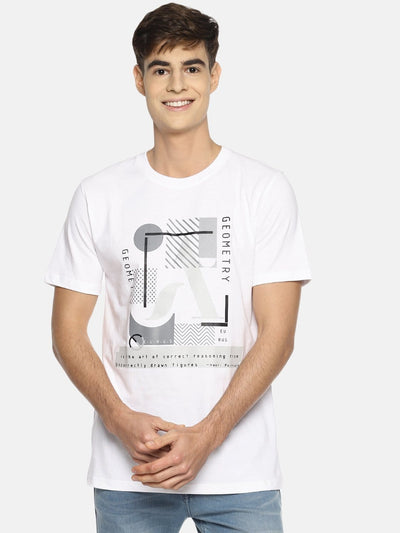 Geometry Short Sleeve T-shirt White