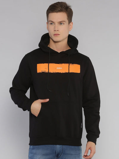 Minimal Eurus Hoodie Black/Orange - EURUS WEAR CLOTHING