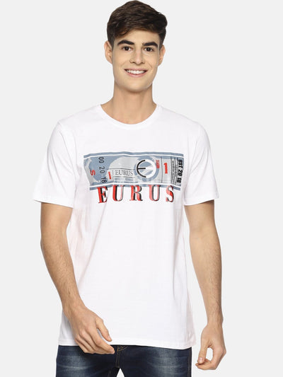 Currency/Dollar Short Sleeve T-shirt White