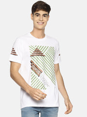 Cross The Line Short Sleeve T-shirt White/Green