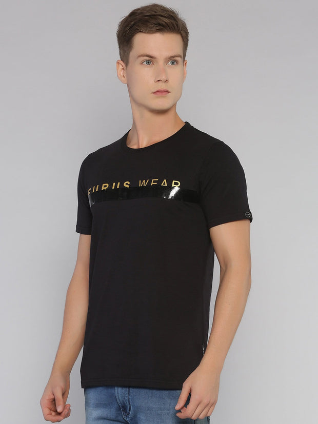 Gold Eurus Short Sleeve T-shirt Black/Gold - EURUS WEAR CLOTHING