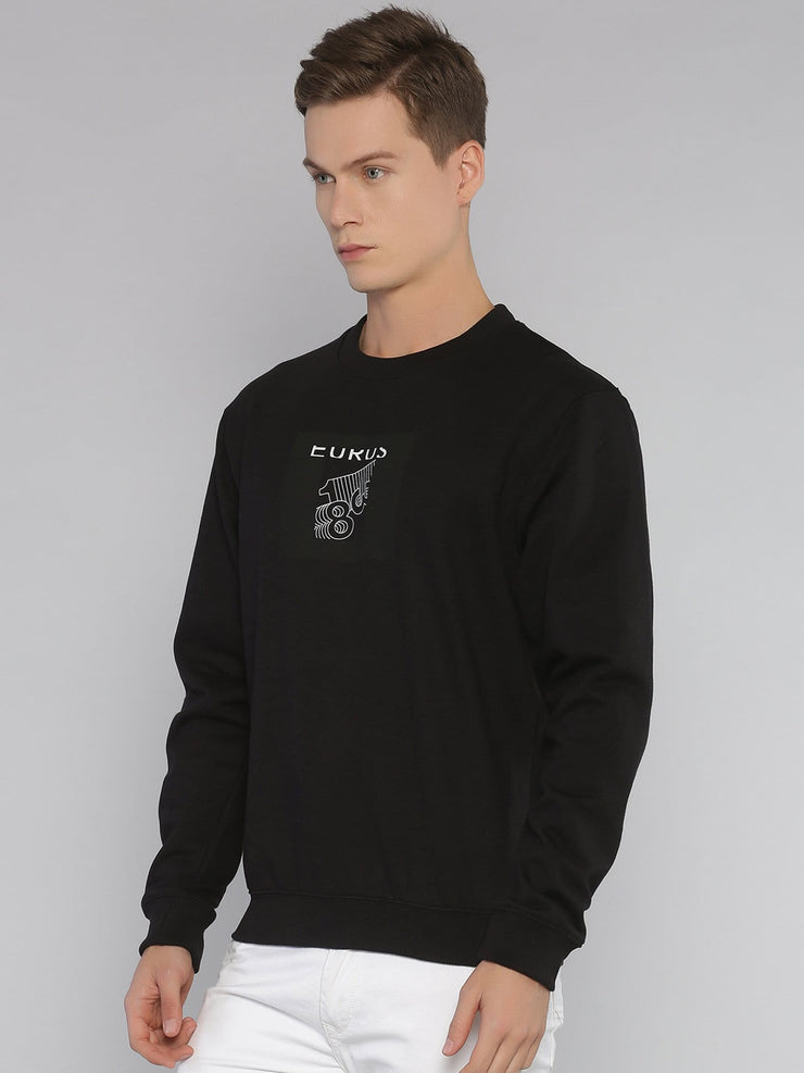 Abstract 183 Sweatshirt Black/White - EURUS WEAR CLOTHING