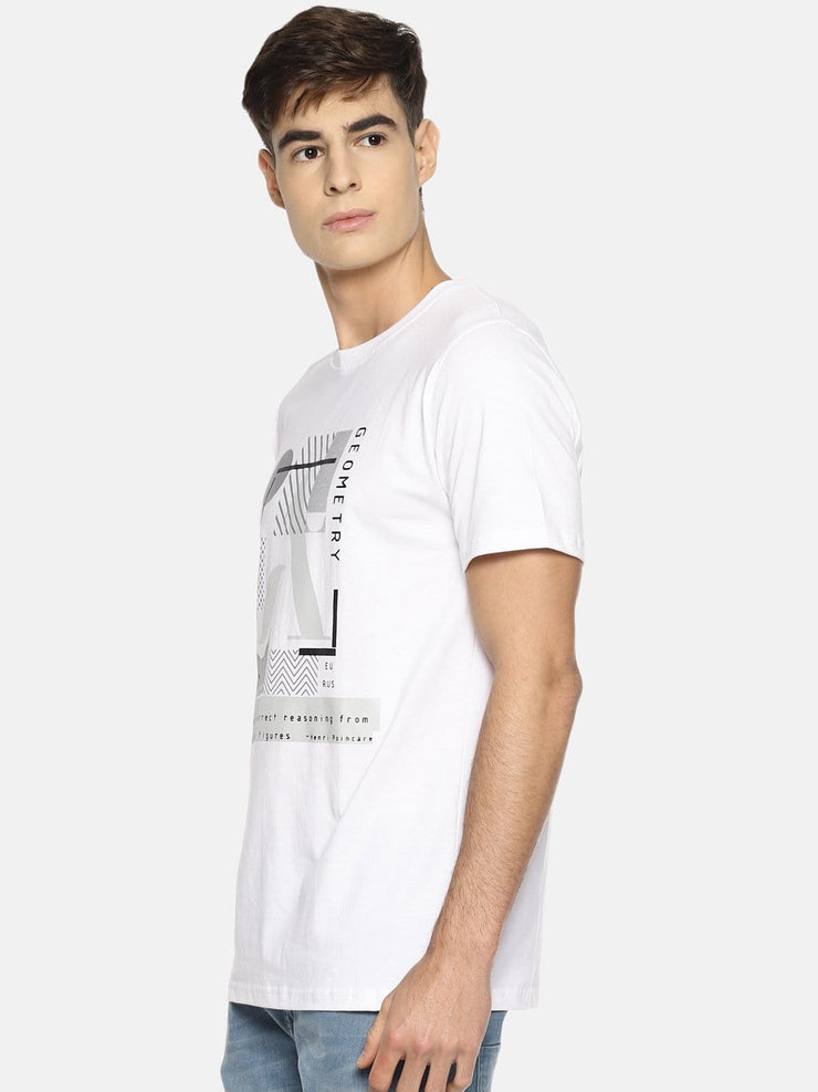 Geometry Short Sleeve T-shirt White - EURUS WEAR CLOTHING