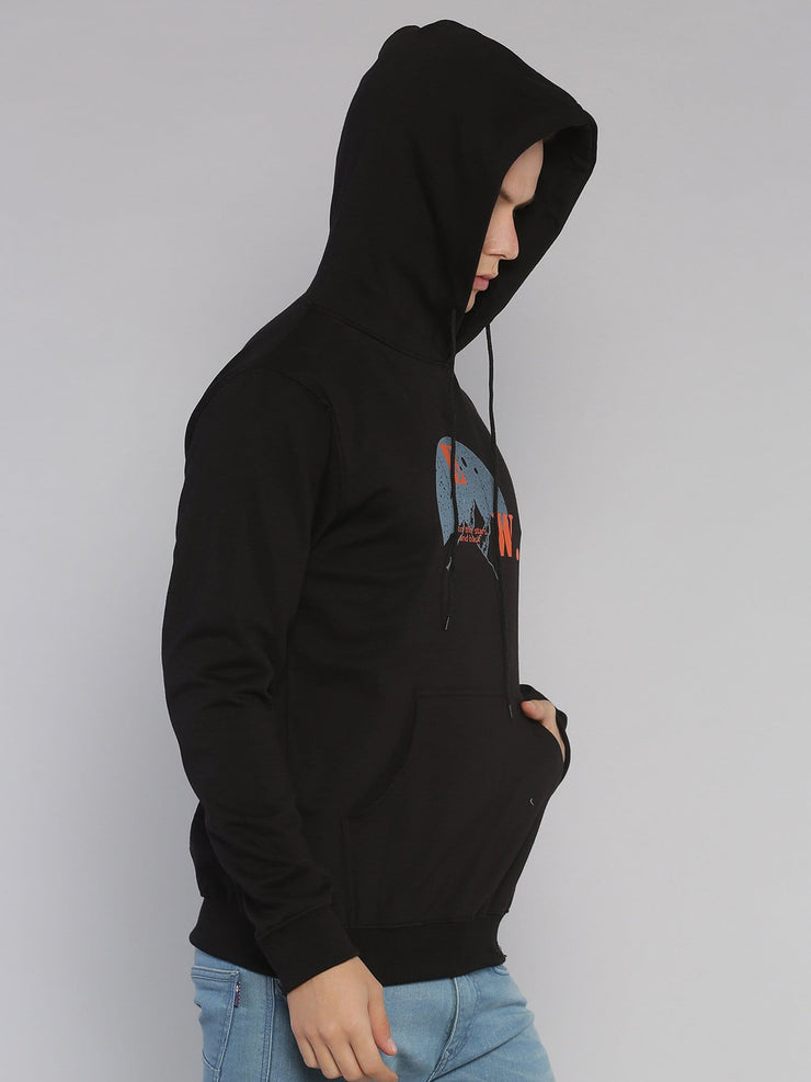 Travel Mountains Hoodie Black/Grey - EURUS WEAR CLOTHING