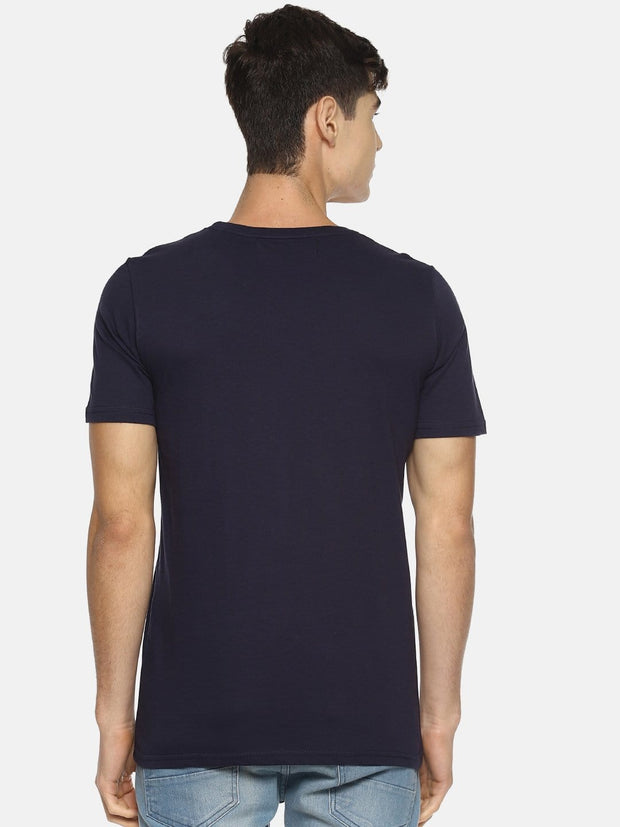 Strange Prisoner Short Sleeve T-shirt Navy Blue - EURUS WEAR CLOTHING