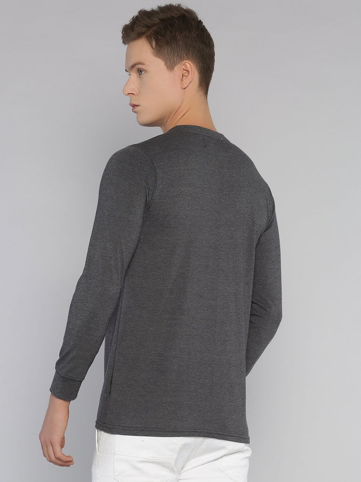 Alphabet Eurus Long Sleeve T-shirt Grey - EURUS WEAR CLOTHING