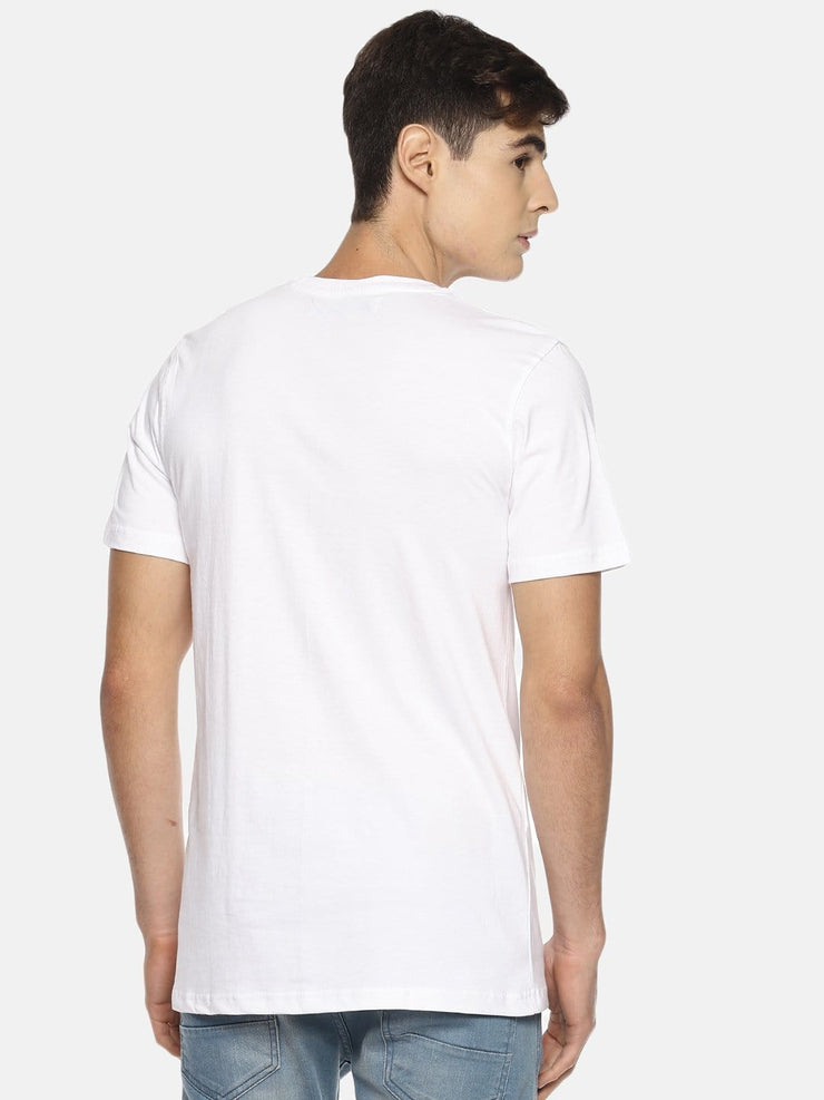 Construction Short Sleeve T-shirt White/Grey - EURUS WEAR CLOTHING