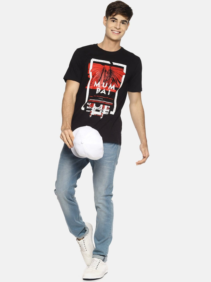 Mumbai T-shirt Black/Red
