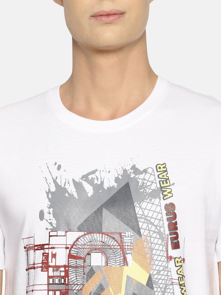 Construction T-shirt White/Grey