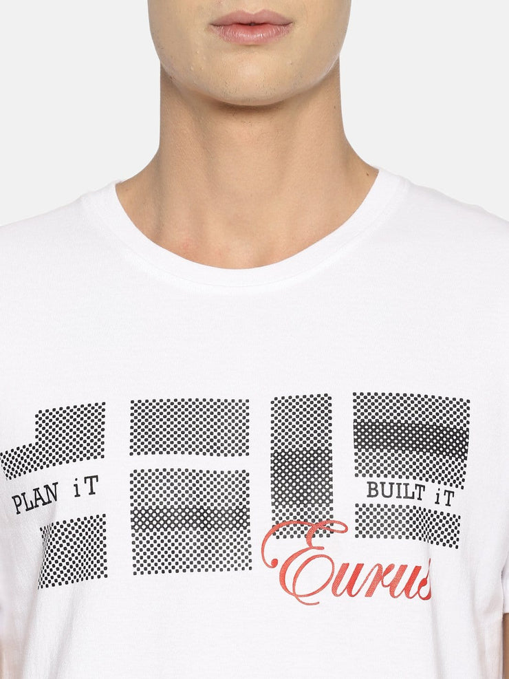Plan It Built It Short Sleeve T-shirt White - EURUS WEAR CLOTHING