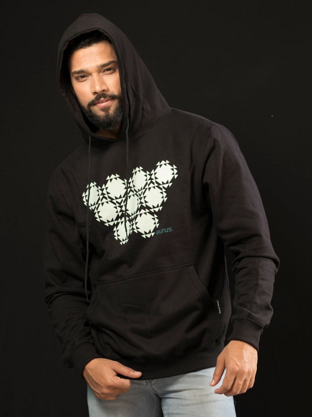 Diamond Heart High End Hoodie Solid Black