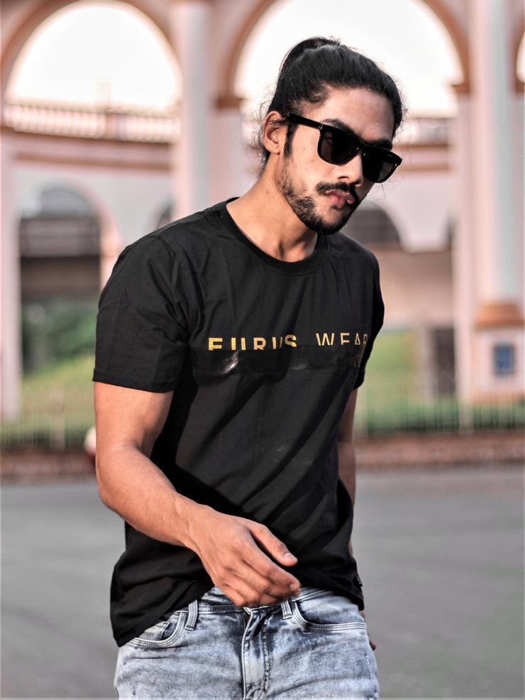 Gold Eurus Short Sleeve T-shirt Black/Gold