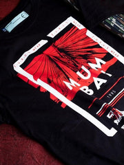 Mumbai Short Sleeve T-shirt Black/Red - EURUS WEAR CLOTHING