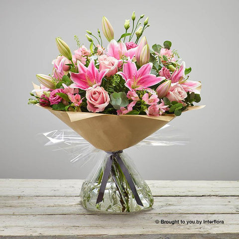 Extra Large Pink Delight New Baby Hand-tied