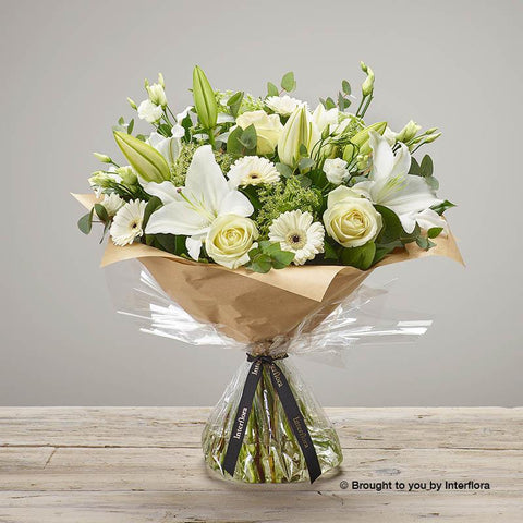 Large White Radiance Hand-tied