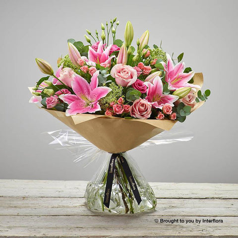 Extra Large Pink Radiance Hand-tied