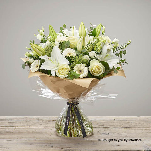 Extra Large White Radiance Hand-tied