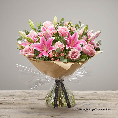 Large Pink Pop Hand-tied