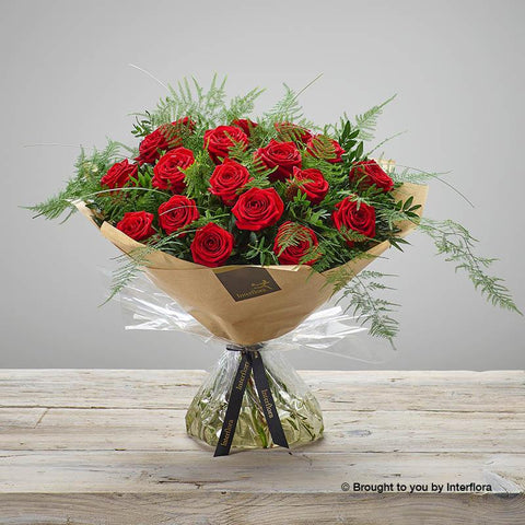 Large Heavenly Red Rose Hand-tied