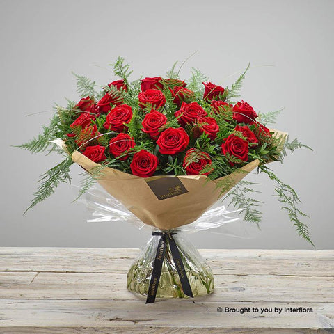 Extra Large Heavenly Red Rose Hand-tied