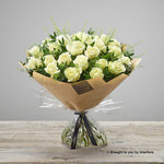 Extra Large Pearly Rose Hand-tied