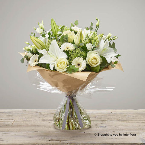 Large White Radiance Sympathy Hand-tied
