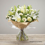 Extra Large White Radiance Sympathy Hand-tied