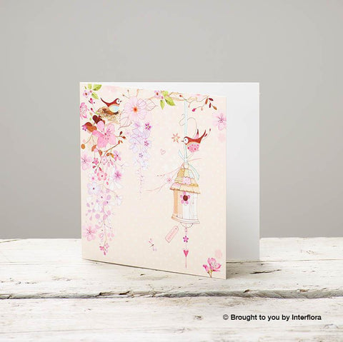 Pretty Flowers - Blank Greetings Card