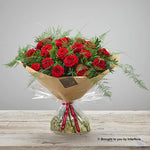 Large Happy Anniversary Heavenly Rose Hand-tied