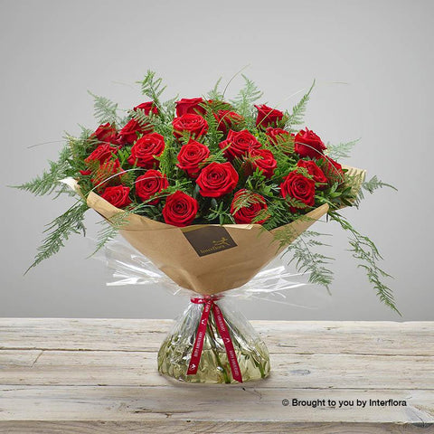 Extra Large Happy Anniversary Heavenly Rose Hand-tied