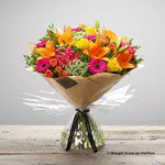 Large Flaming Fiesta Hand-tied