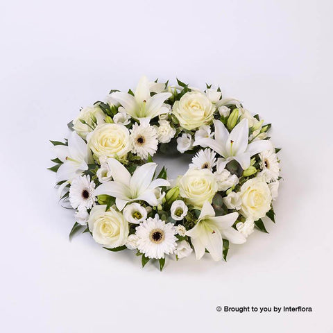 Extra Large Rose & Lily White Wreath