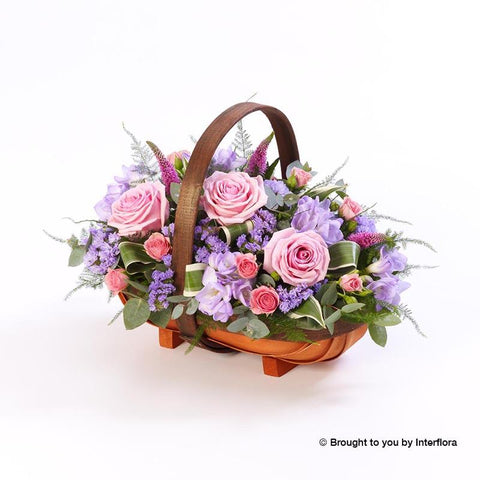Extra Large Pink and Lilac Basket