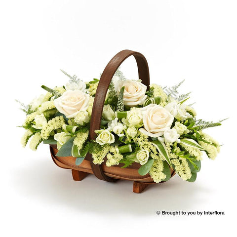 Large Cream and White Basket