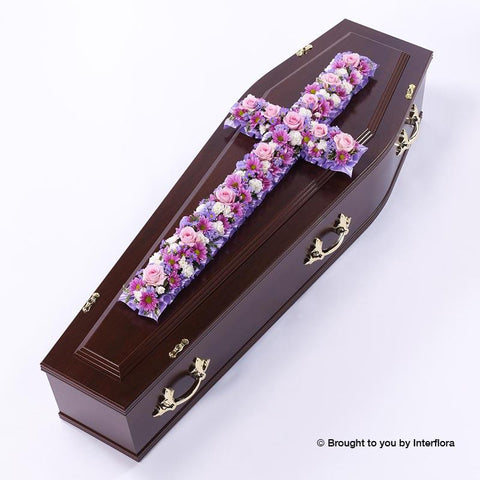 5ft Extra Large Pink & Lilac Classic Cross