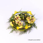 Large Woodland Wreath Yellow