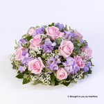 Large Rose and Freesia Posy (Pink and Lilac)