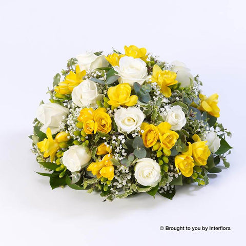 Rose and Freesia Posy (Yellow and White)