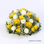 Large Rose and Freesia Posy (Yellow and White )