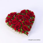 Extra Large Red Rose and Carnation Heart