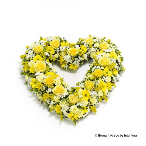 Open Heart - Yellow and White