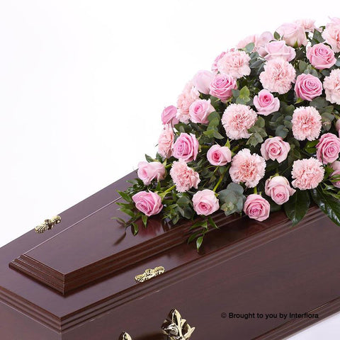 3ft Pink Rose & Carnation Casket Spray