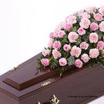5ft Pink Rose & Carnation Casket Spray