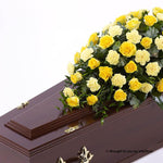 3ft Yellow Rose & Carnation Casket Spray