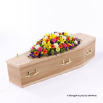 5ft Vibrant Casket Spray
