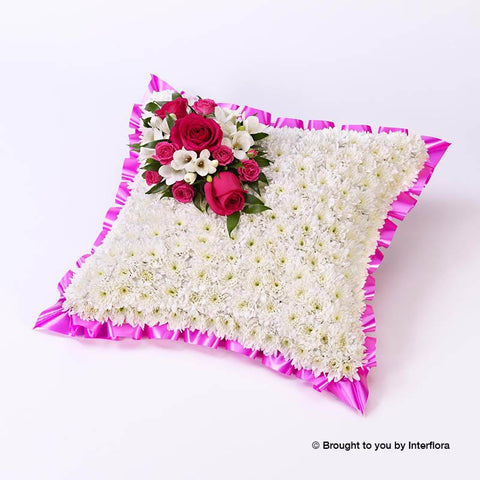 Classic Cream and Pink Cushion