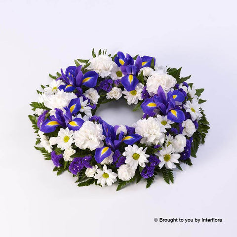 Large Classic Selection Wreath Blue and White