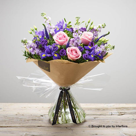 Large Purple Twilight Hand-tied