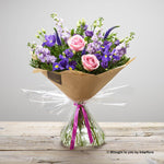 Happy Birthday Purple Twilight Hand-tied