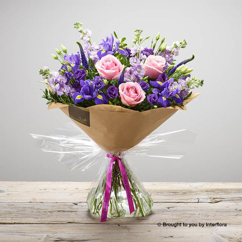 Large Happy Birthday Purple Twilight Hand-tied